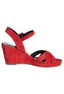 JB MARTIN QUORO   Wedge sandals   red