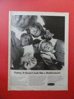 Rubbermaid, 1967 Print Ad. (it doesn't look like rubbermaid.) Original Vintage Magazine Print Art.
