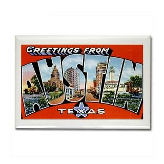 Austin Texas Greetings Rectangle Magnet by greetings_from