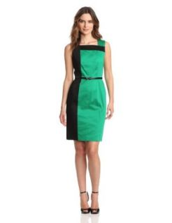 Calvin Klein Women's Sleeveless Colorblock Dress, Grass/Black, 2 at  Women�s Clothing store