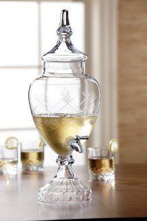 Fifth Avenue Crystal Winston Glass Beverage Dispenser Iced Beverage Dispensers Kitchen & Dining