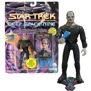 "Playmates Year 1993 Star Trek Deep Space Nine Series 5 Inch Tall Action Figure   Commander GUL DULKAT ""Former Cardassian Prefect of Deep Space Nine"" with Pistol, Rifle, Field Control Unit, PADD,Action Base and Exclusive Collector Card: Toys &"