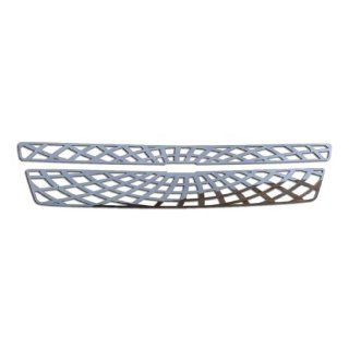 Ferreus Industries   2007 2013 Chevy Suburban Spider Web Polished Stainless Grille Insert Works On All Models (Except Hybrid)   TRK 100 07 02: Automotive