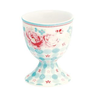handfinished summer floral egg cup by the country cottage shop