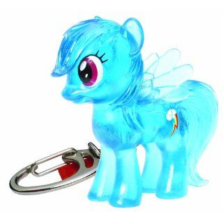 My Little Pony Friendship is Magic Crystal Pony Rainbow Dash Keychain: Toys & Games