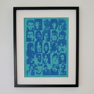dead rock stars print by invisible friend