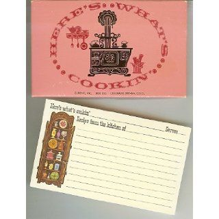 """Here's What's Cookin'"" ~ Vintage Recipe Cards none Books"
