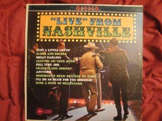 """""""Live"""" From Nashville on Coronet Records CXS 249, Stereo Vinyl Lp Record Hits of Eddy Arnold, Kitty Wells, Jim Reeves, Jimmie Rodgers EtcFun Album Music"""