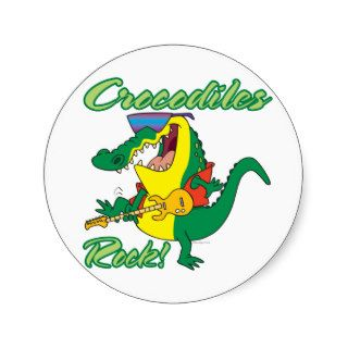crocodiles rock music croc cartoon sticker