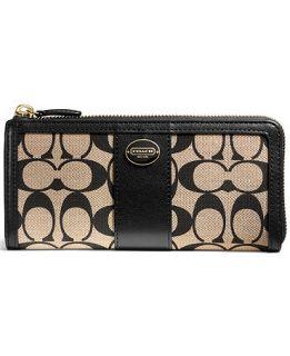 COACH LEGACY SLIM ZIP IN PRINTED SIGNATURE FABRIC   COACH   Handbags & Accessories
