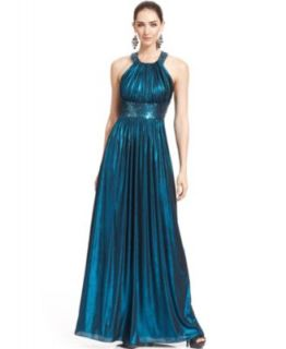 Betsy & Adam Off The Shoulder Ombre Gown   Dresses   Women