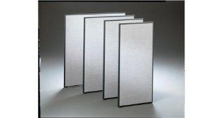 Office Cubicle Privacy Panel w Gray Fabric Covering (30 in.)  Office Furniture