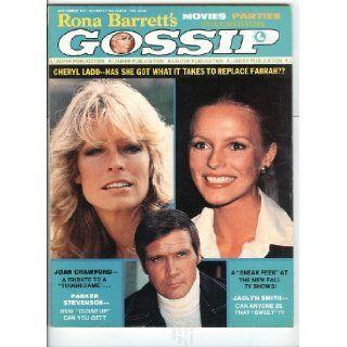 Charlie's Angels Farrah Fawcett Cheryl Ladd Jaclyn Smith & Lee Majors September 1977 Rona Barrett's Gossip Magazine Rona arrett's Gossip Magazine Books