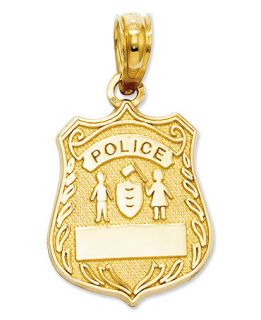 14k Gold Charm, Police Badge Charm   Jewelry & Watches