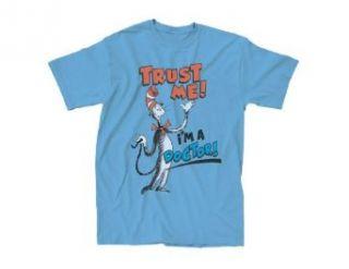 Dr. Seuss Trust Me I'm A Doctor Adult Sky Blue T shirt Clothing