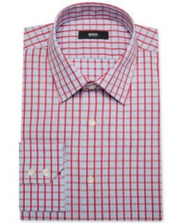 BOSS by Hugo Boss Bold Blue Check Dress Shirt and Neat Skinny Tie   Dress Shirt & Tie Combos   Men