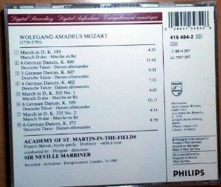 Mozart: German Dances + Marches K 189 600 605 602 335 nos 1 + 2, 509 , 571: Music