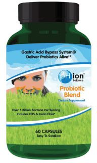 pHion Balance   Probiotic Blend With FOS & Inulin Fiber   60 Tablets