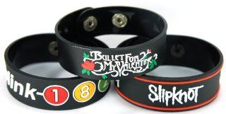 Blink 182 And Slipknot And Bullet For My Valentine New 3Pcs(3X) Bracelet Wristband 3W96 Mix I Miss You : Other Products : Everything Else