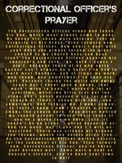 Corrections Officer Prayer Poster : Everything Else
