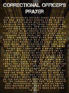 Corrections Officer Prayer Poster : Everything Else