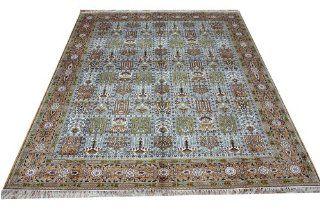 8'x 10' Hand Knotted Silk Rug Large Area Rugs Tribal Rugs Karastan Oriental Rugs(174c 8x10)   Oriental Living Room Rugs