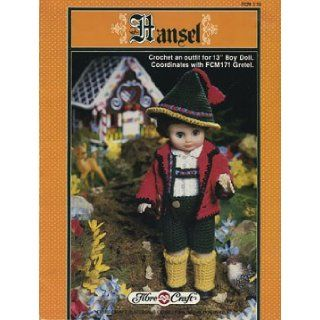 "Hansel Crocet an Outfit for 13"" Boy Doll FCM 170 (coordinates with FCM171 Gretel, FCM 170) Fibre Craft Books"
