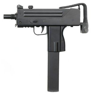 Licensed ASG Action Sport Games Cobray Ingram M11 SMG Sub Machine Gun Spring Airsoft Gun FPS 165 w/ Full Metal Retractable Shoulder Stock, High Capacity Magazine : Airsoft Rifles : Sports & Outdoors