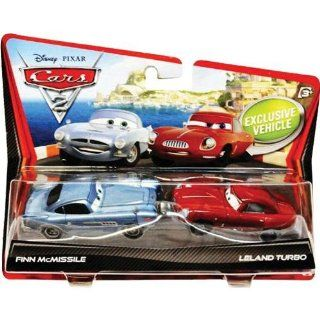 Disney / Pixar CARS 2 Movie 155 Die Cast Car 2Pack Finn McMissile & Leland Turbo Toys & Games