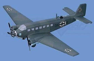 Junkers�� Ju 52 / 3M, Olive Drab Camou Airplane Model Toy. Mahogany Wood Model Aircraft Scale: 1/50: Toys & Games