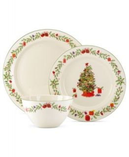 222 Fifth Yuletide Celebration 16 Piece Set   Casual Dinnerware   Dining & Entertaining
