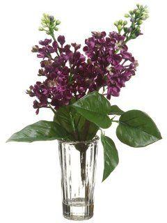 "14"" Lilac Silk Flower Arrangement  Purple/Green (case of 12)   Artificial Flowers"