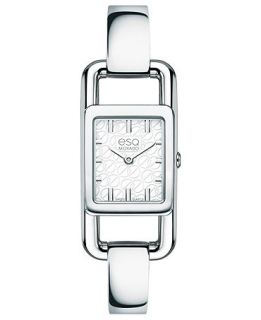 ESQ Movado Watch, Womens Swiss Angle Stainless Steel Bangle Bracelet 20mm 07101393   Watches   Jewelry & Watches