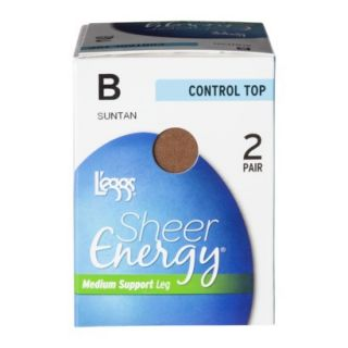 Leggs® 2 Pack Sheer Energy Control Top Panty