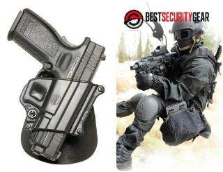 SP11B Fobus Black paddle Right Hand RH Gun Holster for Taurus 24/7 9mm & .40 cal & Taurus Millennium PT 145, PT 745, Taurus PT609 & Taurus Millennium Pro, Taurus Titanium & Springfield Armory XD, XDM 9mm .357 & .40 cal & HS P2000 (C