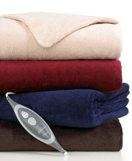 Slumber Rest Microplush Heated Throw   Blankets & Throws   Bed & Bath