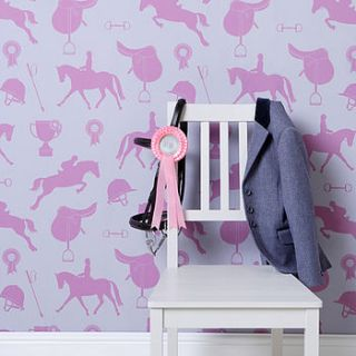 gymkhana girls wallpaper by nubie modern kids boutique