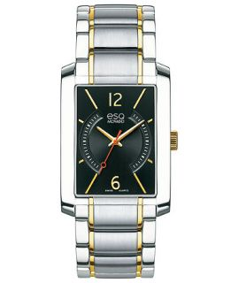 ESQ Movado Watch, Mens Swiss Synthesis Two Tone Stainless Steel Bracelet 30mm 07301412   Watches   Jewelry & Watches