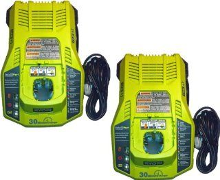 Ryobi P117   18v One+ Dual Chemistry 30 Min Charger (2 Pack) # 140173003   Cordless Tool Battery Chargers
