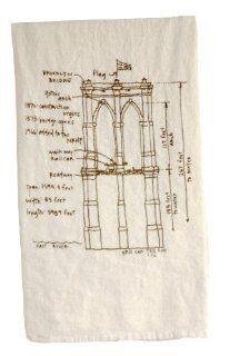 Girls Can Tell Brooklyn Bridge Diagram Floursack Towel TN006   unbleached cotton   Kitchen Towels