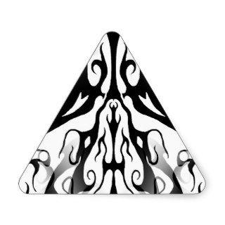 Elegance Tribal Tattoo Digital Collage Triangle Stickers