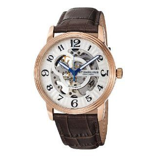 Stuhrling Original Men's 107BG.3345K2 Delphi Oracle (Gents) Automatic Skeleton Rosetone Watch Stuhrling Original Watches