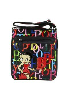 Betty Boop Crossbody Bag   NCL105 (Black) : Cosmetic Tote Bags : Beauty