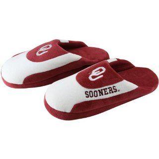 Oklahoma Sooners OU NCAA Low Pro Stripe Slippers Large  Sports Fan Slippers  Sports & Outdoors