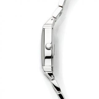 Caravelle Bulova Ladies' Diamond Accented Black Dial Watch