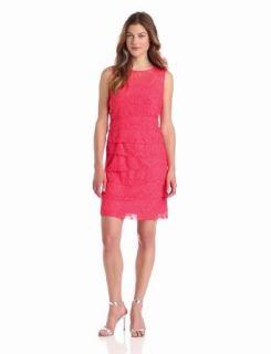 Jessica Howard Women's Sleeveless Shutter Pleat Dress, Coral, 6 at  Women�s Clothing store