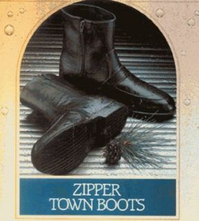 "Men's ""Zipper Town Boot Rubber Rain Boots by totes ISOTONER (XL 10 1/2   11 1/2): Clothing"