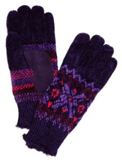 Isotoner Womens Purple Snowflake Knit Gloves with Microluxe Lining at  Women�s Clothing store