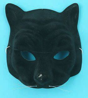 Half Mask Black Panther (Pack of 12): Toys & Games