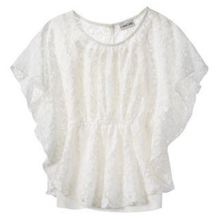 Cherokee Girls 3/4 Sleeve Shirt   Almond Cream XS